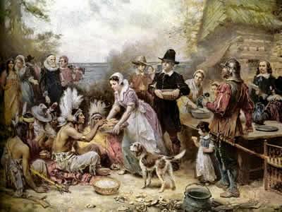Dia de Ação de Graças, de Jean Leon Gerome Ferris (1863-1930)