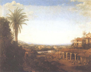Fábrica de açúcar e plantação do Engenho Real, de Frans Post (1612-1680)