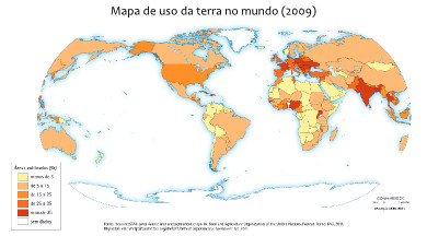 Mapa-múndi do uso da terra