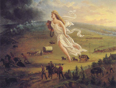 Tela Progresso Americano, de John Gaster (1842-?).