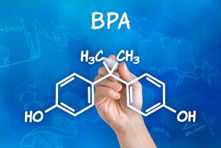 Fórmula estrutural do Bisfenol A ou BPA