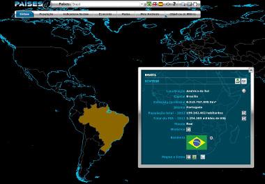 Informações sobre o Brasil no site do IBGE Países