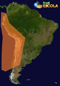 Zonas de tensão geológica da América do Sul