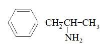 Fórmula da anfetamina em exercício sobre isomeria óptica