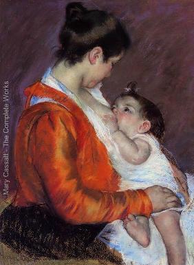 Mary Cassatt criou diversas imagens da vida social e privada das mulheres, enfatizando o relacionamento entre mães e filhos