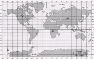 Coordenadas Geográficas do Globo Terrestre