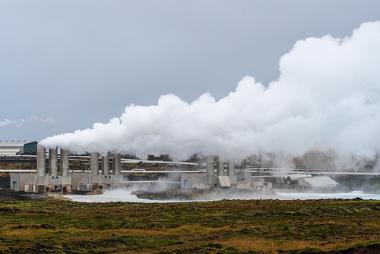 Usina de geração de energia geotérmica