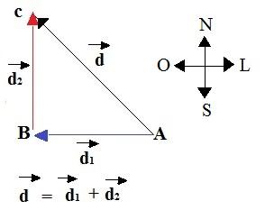 Representação de vetores perpendiculares entre si