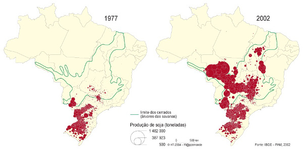 Mapa para exercícios sobre agricultura brasileira*
