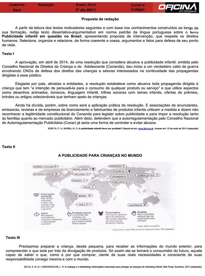 Comentário Redação - Enem 2014