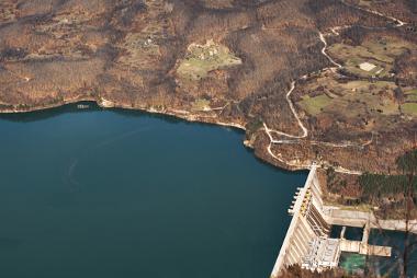 Usina hidroelétrica, exemplo da ação humana sobre a natureza