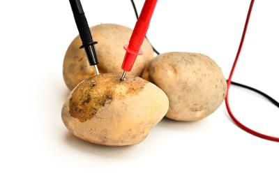 Exemplo simples de montagem de uma pilha de batata
