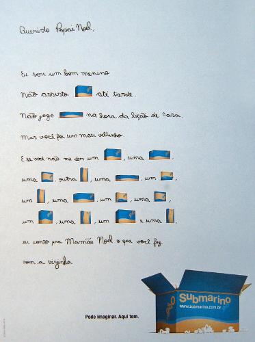 Campanha publicitária da empresa Submarino. A intergenericidade é um fenômeno relativamente comum nos anúncios publicitários