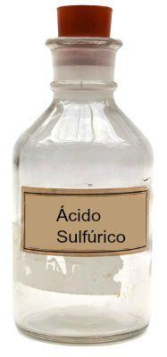 O ácido sulfúrico é um líquido incolor em temperatura ambiente
