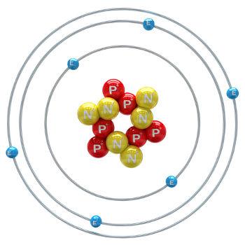 Ilustração de átomo de carbono-12