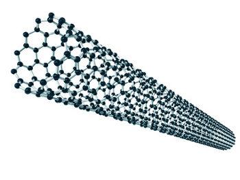 Ilustração de um nanotubo de carbono microscópico