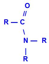 Fórmula geral de uma amida dissubstituída