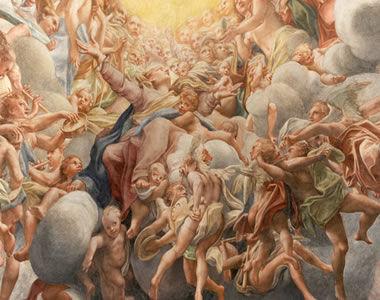Pintura de Antônio Allegri, na capela da Catedral de parma na Itália *