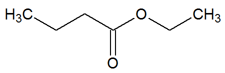 Estrutura química do nutanoato de etila