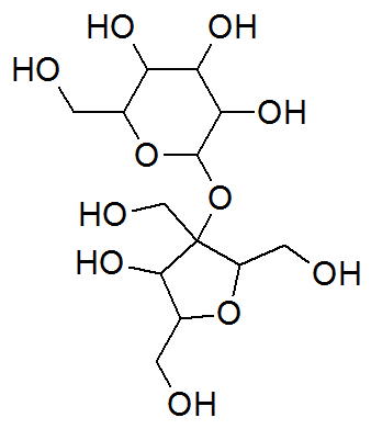 Estrutura química da sacarose