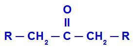 Representação da estrutura geral de uma cetona