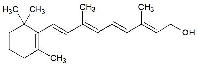 Estrutura química do Retinol