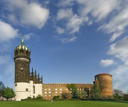 Castelo de Wittenberg, onde Lutero fixou suas 95 teses