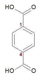 Fórmula estrutural do ácido p-benzenodioico