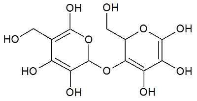 Fórmula estrutural da lactose