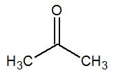 Fórmula estrutural da propanona
