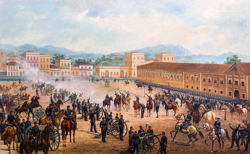A Proclamação da República foi um golpe militar que depôs o imperador Dom Pedro II