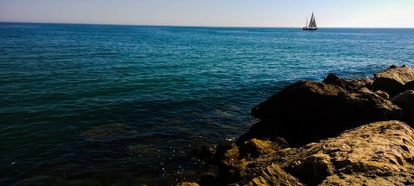 Praia em Quarteira, freguesia portuguesa de Algarve