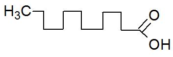 Fórmula estrutural do ácido láurico