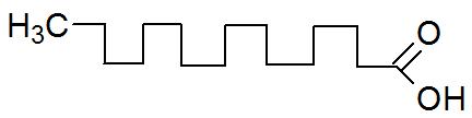 Fórmula estrutural do ácido palmítico