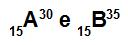 Os átomos A e B são isótopos
