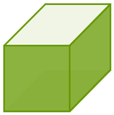 Área lateral do cubo