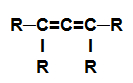 Fórmula estrutural de um alcadieno