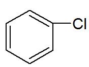 Fórmula estrutural de um derivado do benzeno