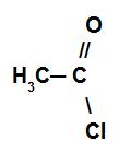 Exemplo de um haleto de ácido