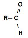 Fórmula estrutural de um aldeído