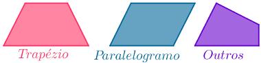 """Exemplo de trapézio, paralelogramo e """"outros"""""""