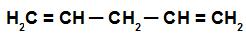 Fórmula estrutural de um alcadieno isolado