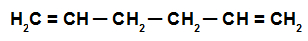 Fórmula estrutural de uma alcadieno