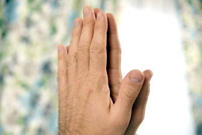 Imagem especular da mão esquerda