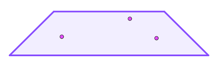 Três pontos distintos e não colineares que determinam um plano