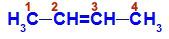 Fórmula estrutural do But-2-eno
