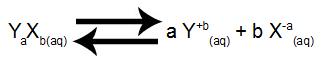 Equilíbrio de dissolução do eletrólito YaXb