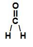 Fórmula estrutural do CH2O
