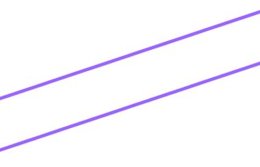 Retas paralelas: retas que não se encontram em ponto algum de sua extensão