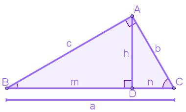 Elementos do triângulo retângulo